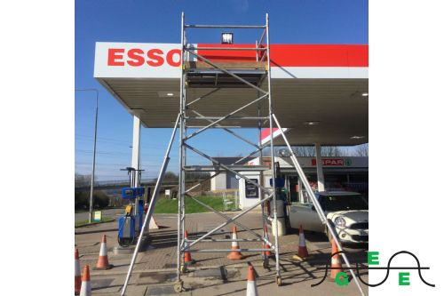 Forecourt scaffolding