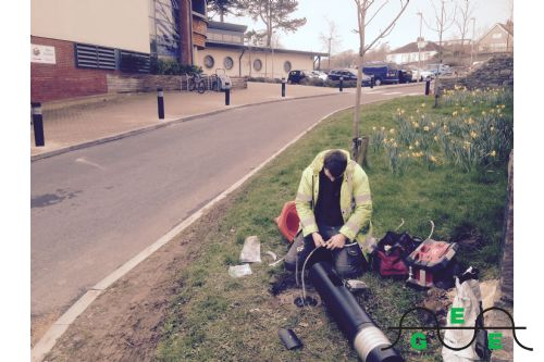 Replacement of damaged lighting bollard 2016